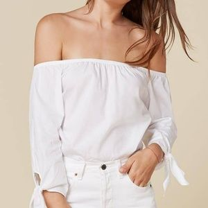REFORMATION White Reese Top Size S